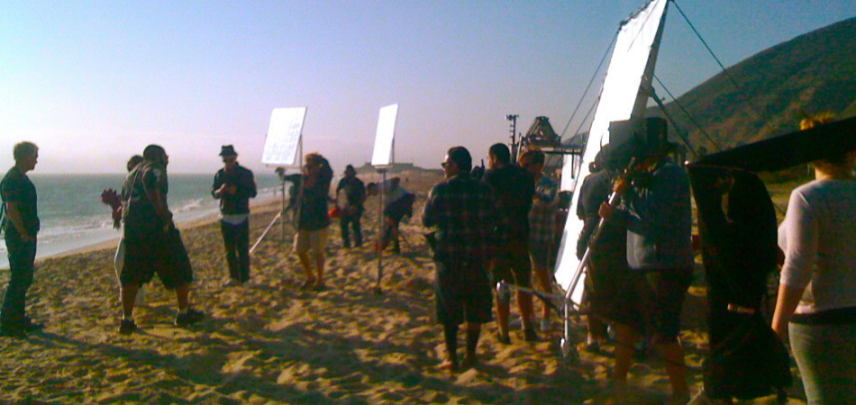 Shooting in Los Angeles on The Beach